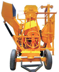 MIXER WITH HYDRAULIC HOPPER